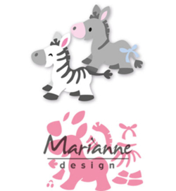 Marianne D Collectable COL1447 - Eline's zebra & donkey