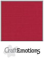 CraftEmotions linnenkarton kerstrood 27x13,5cm 250gr