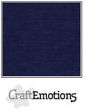 CraftEmotions linnenkarton - donkerblauw LHC-05 A4 250gr