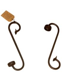 Iron Candle Small Thealight 28x10x6 - donker grijs/zwart (kandelaar / theelicht houder)