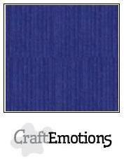 CraftEmotions linnenkarton saffierblauw 27x13,5cm 250gr