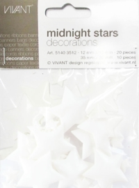 Decoratie Midnightstars wit
