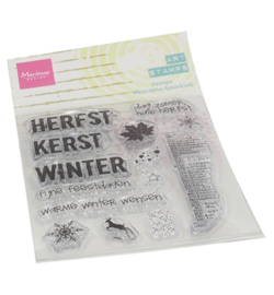 Marianne D - MM1630 - Art stamps Hello Fall
