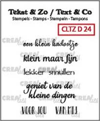 Crealies Clearstamp Tekst&Zo Divers 24 (NL) CLTZD24