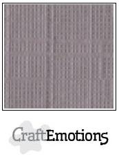 CraftEmotions linnenkarton -zilvergrijs LHC-73 A4 250gr