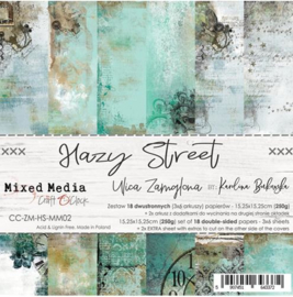 "Paper Collection Set 6""*6"" Hazy Street, Mixed Media, 250 gsm"