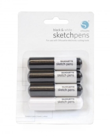 Silhouette Sketch Pen Black/White Pack