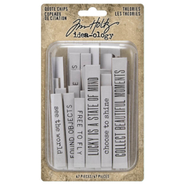 Idea-ology Tim Holtz Theories Quote Chips (TH94045)