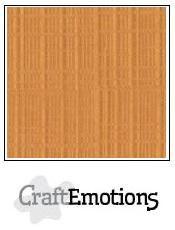 CraftEmotions linnenkarton toffee 27x13,5cm 250gr