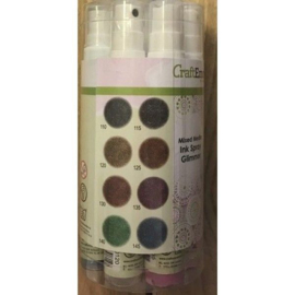 CraftEmotions Ink Spray Set 8st 30ml - Glimmer
