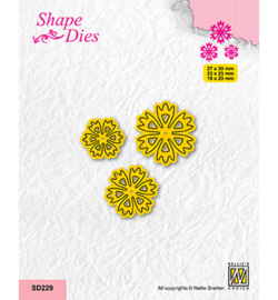 Nellie`s Choice - SD229 - Set of 3 Flowers-8