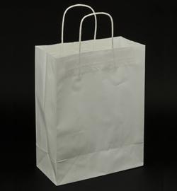 Papieren draagtas met gedraaide handgrepen Wit - Groot