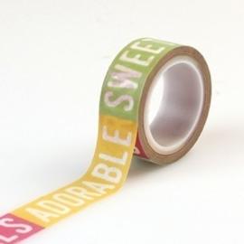 Echo Park Petticoats & Pinstripes Girl Decorative Tape Girl Words (PC103027)