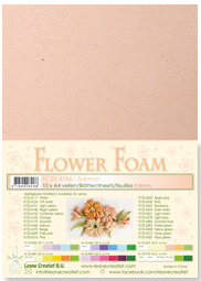 LeCrea - 10 Flower Foam sheets A4 0,8mm zalm 25.4186 0.8mm