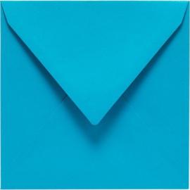 Papicolor Envelop vierk. 14cm korenblauw 105gr-CV 6 st 303965 - 140x140 mm