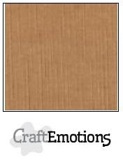 CraftEmotions linnenkarton mokka 30,5x30,5cm