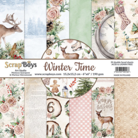 ScrapBoys - Winter Time 6x6 Inch Paper Pad