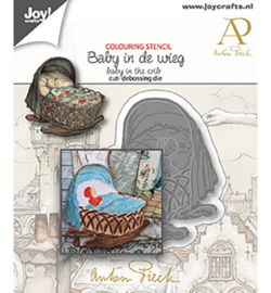 Joy! Crafts - 6002/1610 - Anton Pieck - Baby in de wieg