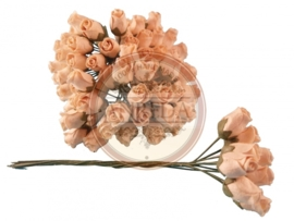 Middle Semi Open Rose Buds - Creme