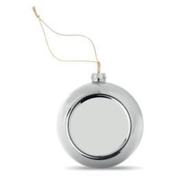 Sublimatie kerstbal 8 cm - zilver - p.st