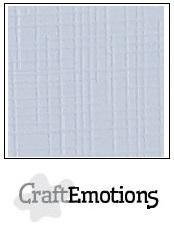 CraftEmotions linnenkarton klassiek wit 30,5x30,5cm