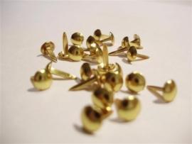 Brads Gold knop 7 mm - 80 stuks