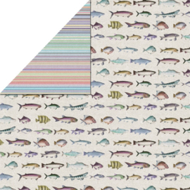 FabScraps - Fish - 12 x 12 Double Sided Paper