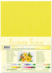 LeCrea - 10 Flower Foam sheets A4 helder geel 25.4148 0.8mm