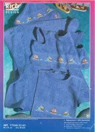 Borduurpakket Babycape met walvis/boot