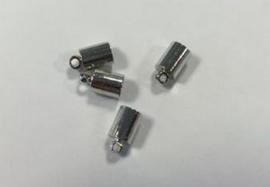 Eindkap voor 5mm koord 7x3MM platinum 4 ST 12154-5412
