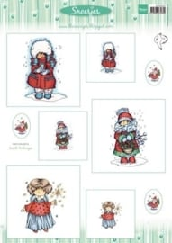 Card Topper Snoesjes - Winter 1 - 3DHM0057
