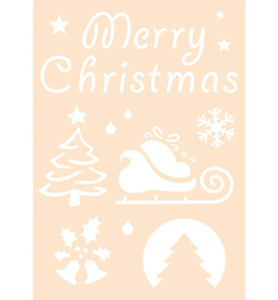 Joy! Crafts - 6005/0012 - Polybesa stencil - Merry Christmas