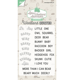 Joy!Crafts - 6410/0513 - Dendennis - LWA - Woodland quotes
