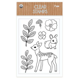 Piatek13 - Clear stamp set Forest tea party 01 P13-FOR-30