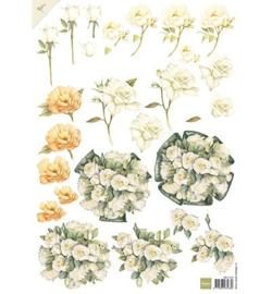 Marianne D 3D Knipvellen MB0142 - Mattie white roses
