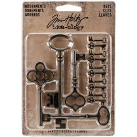 Tim Holtz Idea-Ology Silver Metal Keys