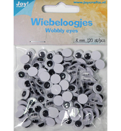 Joy! Crafts - 6300/0642 - Wiebeloogjes rond 8mm