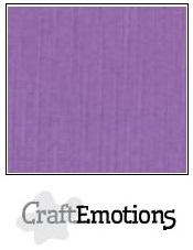 CraftEmotions linnenkarton paars 30,5x30,5cm