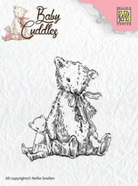 Nellie`s Choice Clearstamp - Baby Cuddles Teddybears CSBC004
