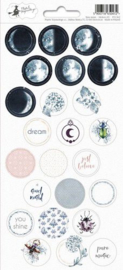 Piatek13 - Sticker sheet New moon 03 P13-362 10,5x23 cm