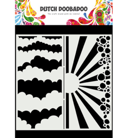 Dutch Doobadoo - 470.784.002 - Mask Art Slimline Clouds