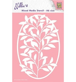 Nellie`s Choice MMSA6-005 - Oval Frame with flower-branch