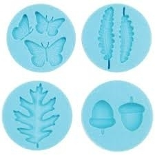 Martha Stewart silicone mold woodland x4