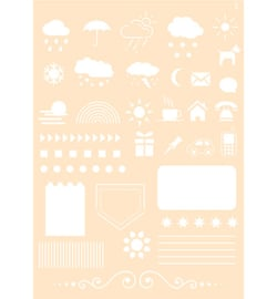 Joy! Crafts - 6002/0861 - Polybesa Journalingstencil - Nr. 5