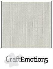 CraftEmotions linnenkarton pastel creme 30,5x30,5cm