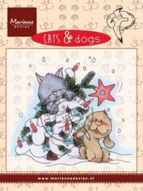 Marianne D Clear stamp Cats & dogs - tree decorating CD3504