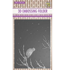 Nellie`s Choice - EF3D016 - Christmas serie: -Bird on branch-