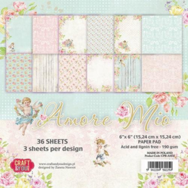 Craft&You Amore Mio Small Paper Pad 6x6 36 vel