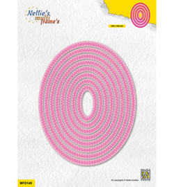 Nellie`s Choice - MFD149 - Double stitchlines: Oval