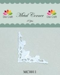 Dixi Craft Metal Corner 42x42 mm wit - MC0011